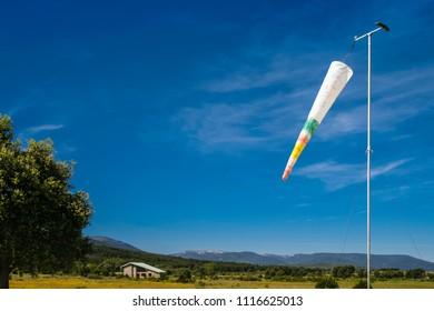 Windsock in paragliding landing field