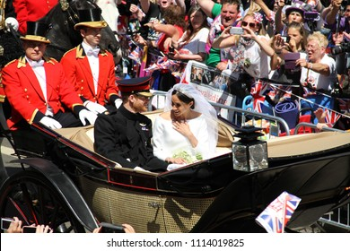 Windsor, Berkshire/UK-05192018: Royal wedding of Prince Harry and Meghan Markle.