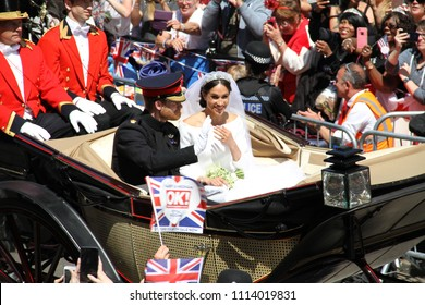 Windsor, Berkshire/UK-05192018: Royal wedding of Prince Harry and Meghan Markle.