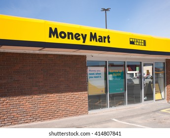 WINDSOR, CANADA - MAY 01, 2016: Money Mart is a Canadian company supplying various financial services. There are approximatly 412 stores in Canada.
