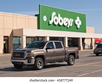 WINDSOR, CANADA - MAY 01, 2016: Sobeys Inc. is Canada's second largest food retailer with more than 1,500 supermarkets and a number of banners. Sobeys operates in all Canadian provinces.