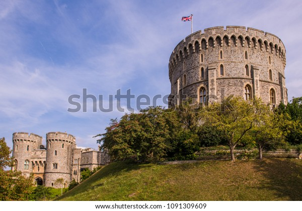 Windsor Castle was built in the 11th Century and is the residence of the British Royal Family