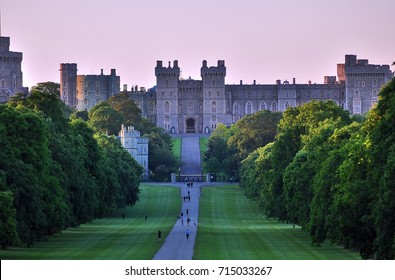 Windsor Castle and the Long Walk, UK