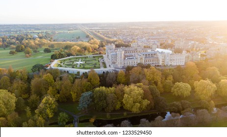 Windsor Castle from the Sky.  Windsor Castle is the oldest and largest occupied castle in the world.