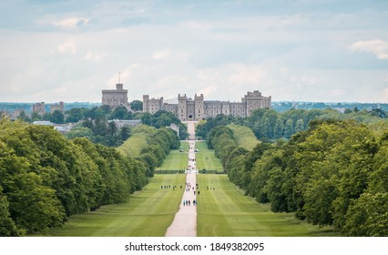 Windsor, England, UK - 9.20.2020: Long Walk Garden