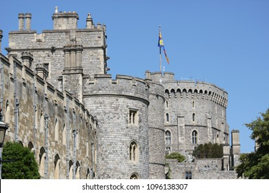 Windsor, Uk, 5/19/2018 :wedding of Meghan Markle and Prince Harry, outside Windsor castle
