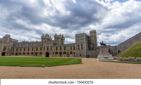 WINDSOR, UK - SEP 20, 2017: Visotor's apartments of Windsor Castle. It is a royal residence at Windsor in the English county of Berkshire. The castle is notable for its architecture.