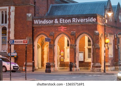 Windsor, United Kingdom - March 16 2019: Windsor & Eton train station