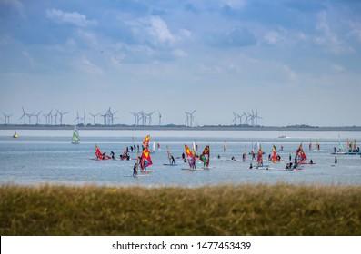 Windsurfing in Norderney, water sports island germany