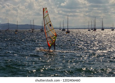 Windsurfing is a popular sport in Mallorca.