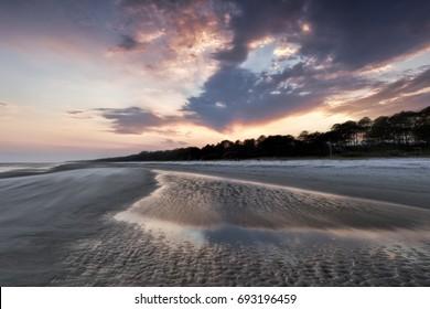 """Windswept Beach"" High winds on the beach increase as sunset approaches on South Forest Beach, Hilton Head Island, SC."