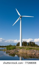 Windturbine on small island