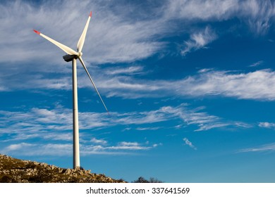 Wind-turbines on the Croatian coast