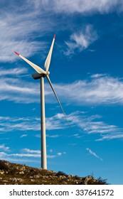 Wind-turbines on the Croatian coast