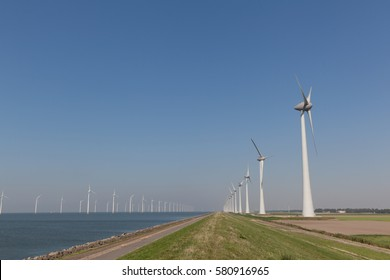 Windturbines  in the water producing alternative energy