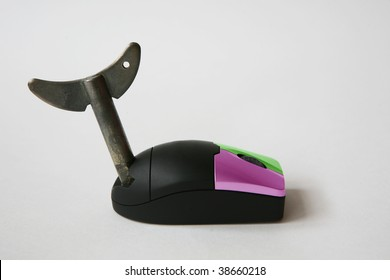 wind-up computer mouse