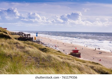 A windy day on the island of Sylt, Germany
