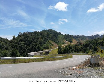 Windy road or high way in remote area of Malaysia.