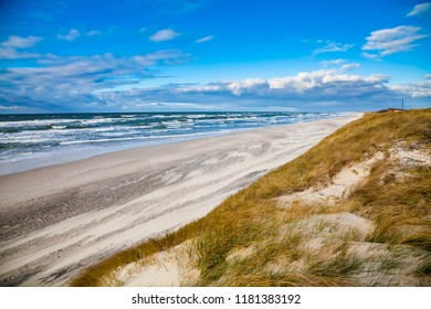 windy weather at the Baltic sea, Curonian Spit, Lithuania