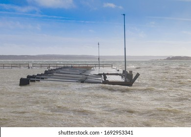 Windy weather and a deserted jetty