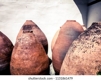 Wine amphorae Kvevri, earthenware vessel for fermentation, storage and ageing of wine in Georgia