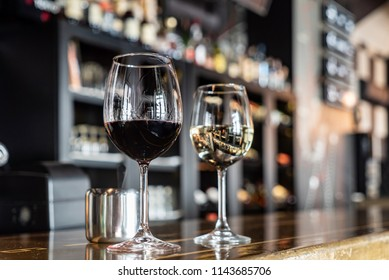 wine in the bar