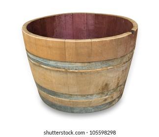 Wine Barrel cut in half