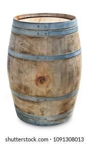 wine barrel isolated on white background