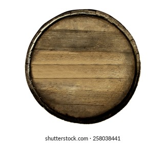 Wine barrel isolated on white background