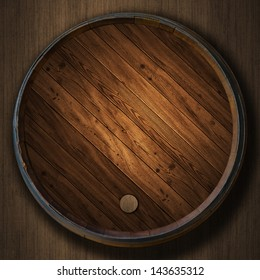 the Wine barrels wood background