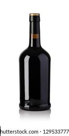 wine bottle isolated over white background
