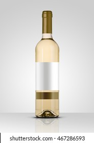 Wine Bottle Isolated With White Label