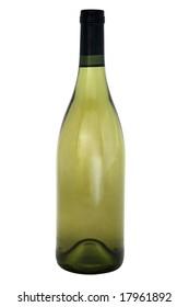 Wine bottle, standing upright, vertical