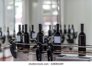 Wine bottles factory line