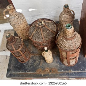 Wine Bottles, Jugs and Baskets