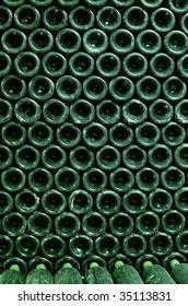 wine bottles wall