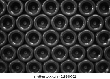 Wine bottom bottles blurred back ground