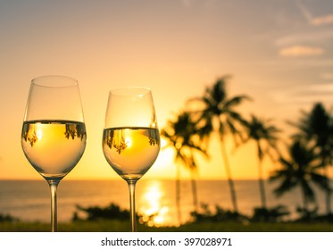 Wine by the sea.