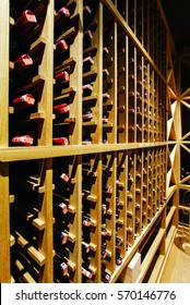 Wine cellar. Sequence wines. A backyard of wines.
