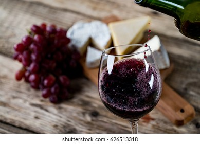 Wine and Cheese concept