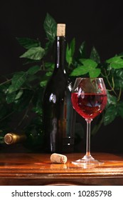 Wine composition, pink wine