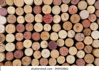 Wine cork background. Background of Various Used Wine Corks close up.