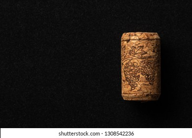 Wine cork on dark background