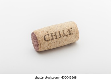 Wine cork from a red wine from Chile