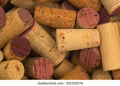 Wine corks background, close up