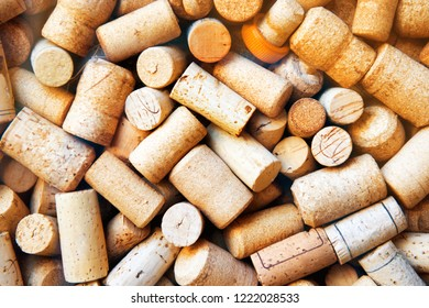 Wine corks collection texture for winery background