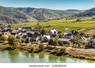 Wine country of Mosel river in Germany