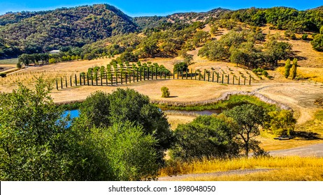 Wine Country Scenery in Mendocino County of Northern California