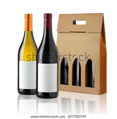 Wine gift box and two bottles