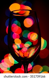 Wine glass against bokeh